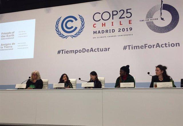 Rueda de prensa de Amigos de la Tierra en la COP25