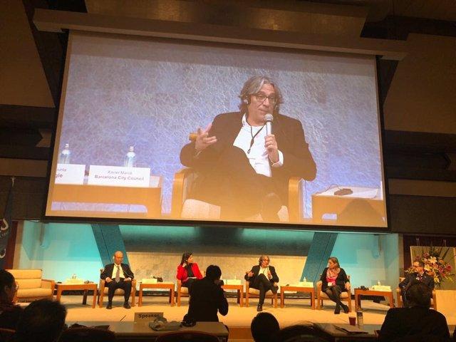 Xavier Marcé en la Conferència Mundial de la UNESCO i l'Organització Mundial del Turisme de Nacions Unides (UNWTO) a Kyoto.