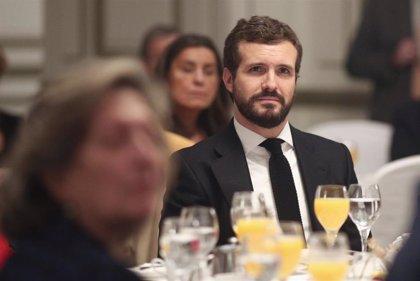 """Casado alerta contra las """"reivindicaciones"""" que Junqueras plantea a Sánchez para apoyar la investidura"""