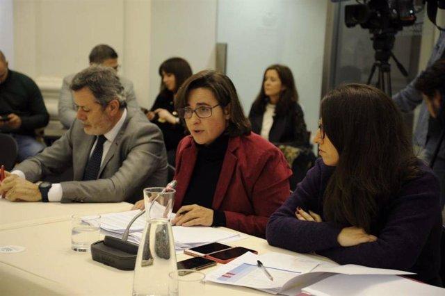 La secretaria general de la Consejería de Movilidad, Transporte y Vivienda, María Luisa Corrales