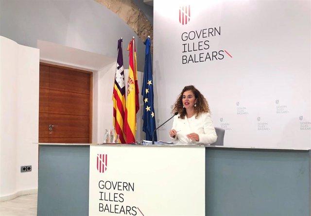 La portavoz del Govern, Pilar Costa, en rueda de prensa