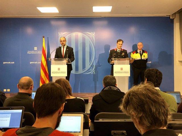 El conseller d'Interior Miquel Buch i el comissari en cap Eduard Sallent.