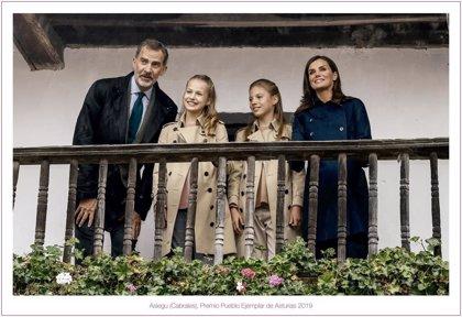 La Princesa Leonor y su espectacular sonrisa en la Felicitación de Navidad de la Familia Real