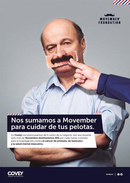 Covey Alquiler recauda 2.500 euros para Fundación 'Movember', que sensibiliza contra el cáncer de próstata y testicular