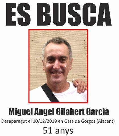 Se amplía a municipios cercanos la búsqueda del vecino de Gata de Gorgos desaparecido desde el miércoles