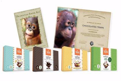 Chocolates Trapa apadrina orangutanes en Borneo en la celebración del 50 aniversario del primer bombón