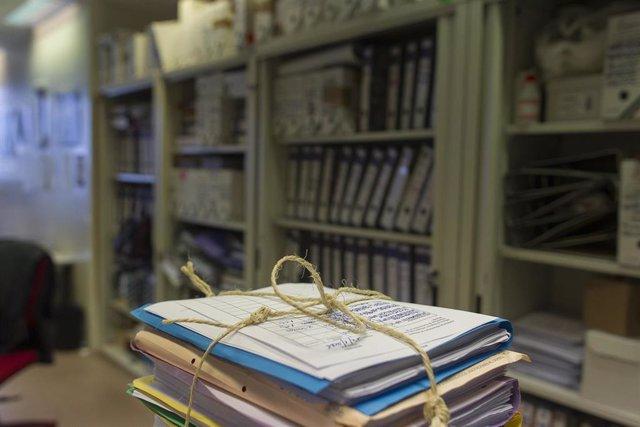 Documentos en una oficina