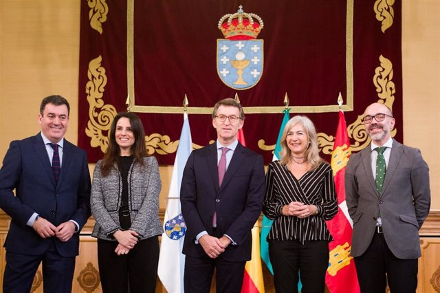 Encuentro de consejeros de Cultura que ha tenido lugar en Santiago de Compostela y al que ha acudido la consejera de Cultura y Patrimonio Histórico, Patricia del Pozo.