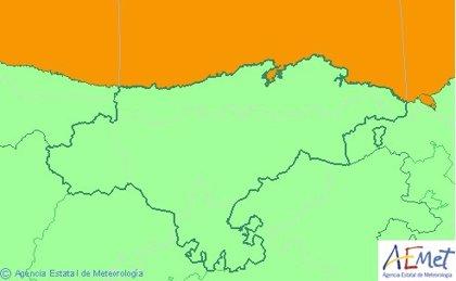 Cantabria continuará este sábado en aviso naranja por fenómenos costeros