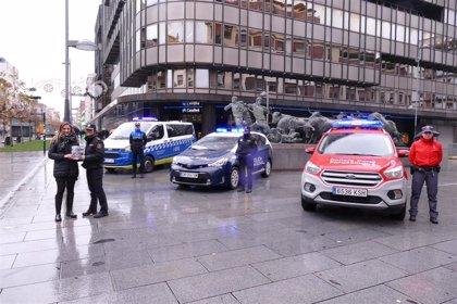 Policía Nacional, Policía Foral y Policía Municipal aumentan la presencia policial durante la Navidad