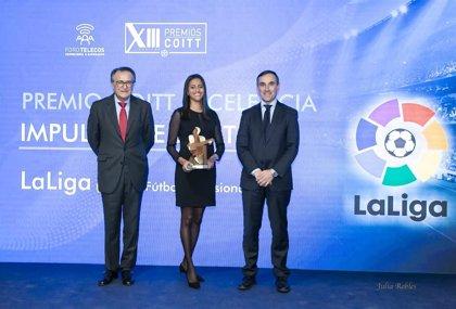 LaLiga recibe el Premio Excelencia al Impulso de las TIC en los Premios COITT 2019