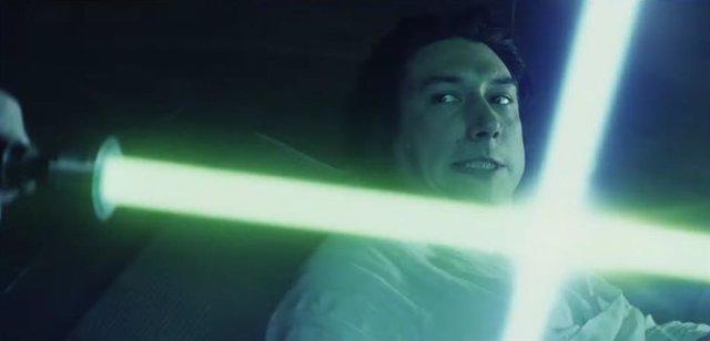 Kylo Ren en un flashback de Star Wars