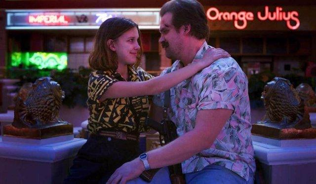 Hopper y Eleven en la tercera temporada de Stranger Things