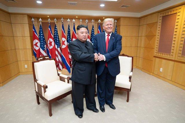Donald J. Trump i Kim Jong-un a Corea del Nord, 30 de juny del 2019. (Shealah Craighead/Casa Blanca/Contacte)