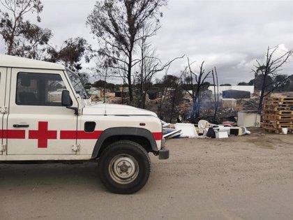 El fallecido en el incendio de chabolas en Palos (Huelva) es un joven marroquí de 23 años