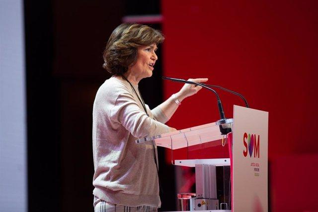 La vicepresidenta del Govern central en funcions, Carmen Calvo