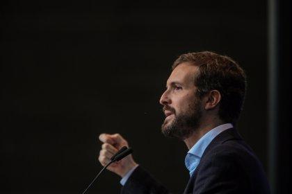 """Casado dice que le da """"vergüenza ajena"""" la """"deriva anticonstitucional"""" de Sánchez: """"Que no espere nada el lunes"""""""
