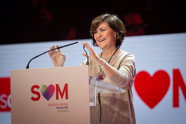 La vicepresidenta del Govern en funcions, Carmen Calvo