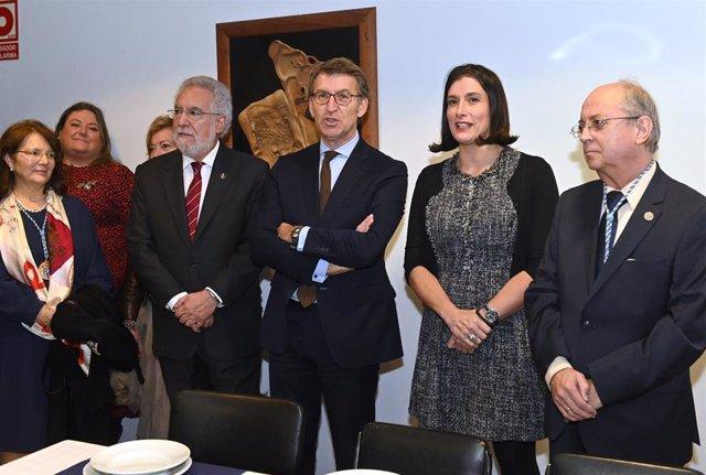 IGUAL, NÚÑEZ-FEIJÓO Y SANTALICES VIEIRA NOMBRADOS SOCIOS DE HONOR DEL CENTRO GALLEGO DE SANTANDER