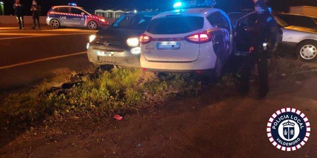 Heridos dos policías locales de Getafe y uno de Valdemoro durante la persecución de un vehículo
