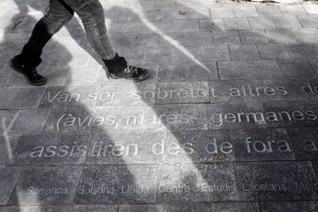 Espai de memòria a la presó de dones de les Corts de Barcelona