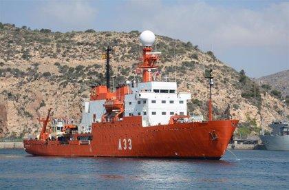 El 'Hespérides' contribuirá al dispositivo de búsqueda de los restos del avión siniestrado en el mar de Hoces