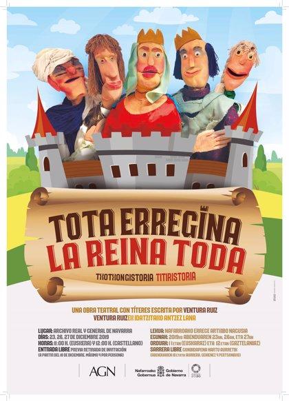 Una representación histórica con títeres, entre las propuestas del Archivo de Navarra para el 23, 26 y 27 de diciembre