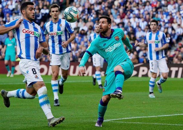 Leo Messi, en un partido con el FC Barcelona.