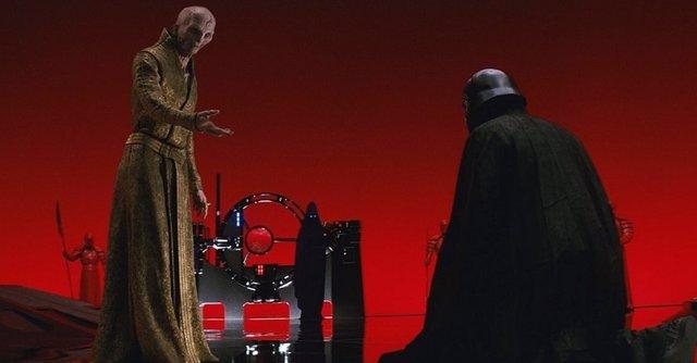 Snoke y Kylo Ren en Star Wars: Los últimos jedi