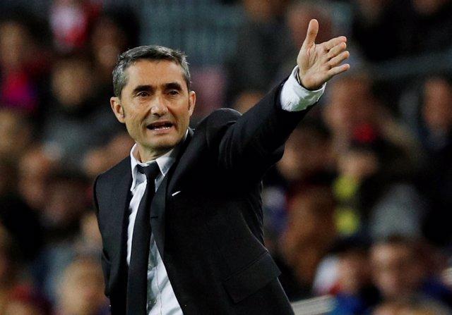 Ernesto Valverde, entrenador del FC Barcelona.