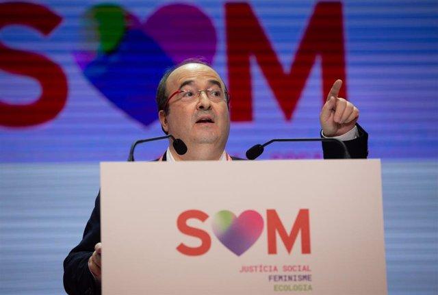 El primer secretario del PSC, Miquel Iceta, ha pedido este viernes la abstención de ERC en la investidura de Pedro Sánchez.