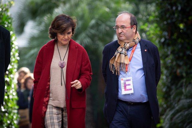 Carmen Calvo y Miquel Iceta