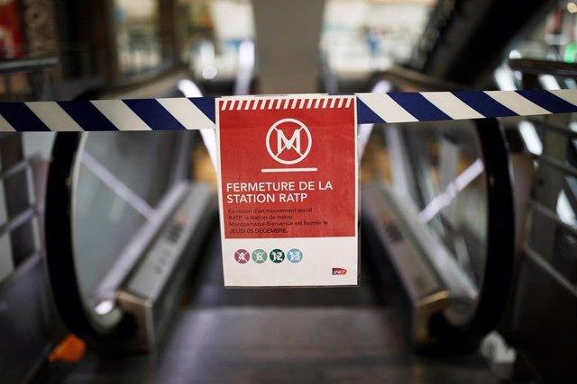 Huelga de transportes contra la reforma de las pensiones en Francia