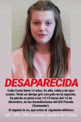 Se amplía el perímetro de búsqueda de la menor de 14 años desaparecida el jueves en Santander
