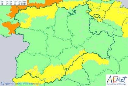 Aviso amarillo este lunes por lluvia, viento y nieve en Ávila, Burgos, León, Salamanca y Segovia