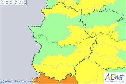 Aemet extiende los avisos por viento este lunes a sur, este y norte de Extremadura, donde también hay riesgo por lluvia