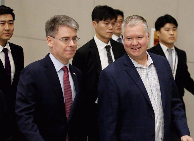 El representante especial de EEUU para Corea del Norte, Stephen Biegun