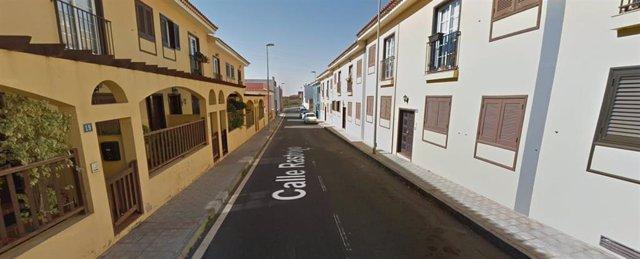 Calle Rastrojo, lugar donde apareció el cuerpo sin vida del hombre