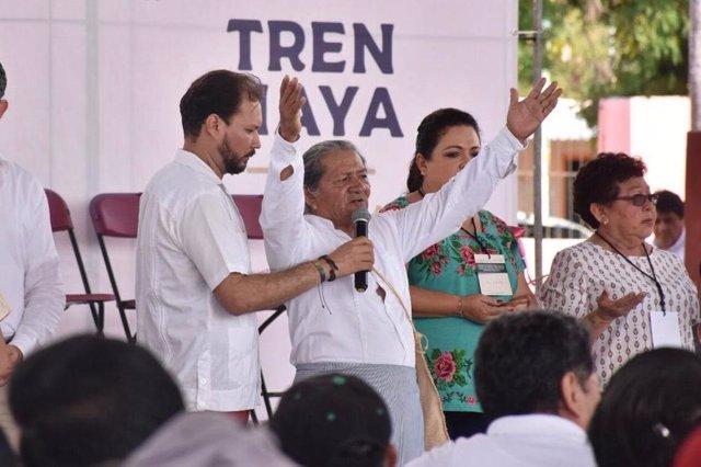 Asambleas indígenas para aprobar la construcción del Tren Maya en Yucatán