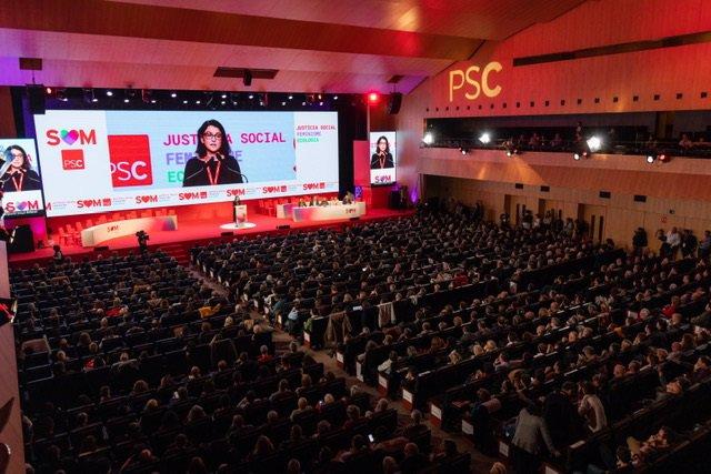 Imatge del 14è Congrés del PSC que se celebra aquest cap de setmana a Barcelona