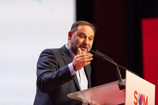 El secretari d'Organització del PSOE i ministre de Foment en funcions, José Luís Ábalos, en el 14è Congrés del PSC aquest diumenge
