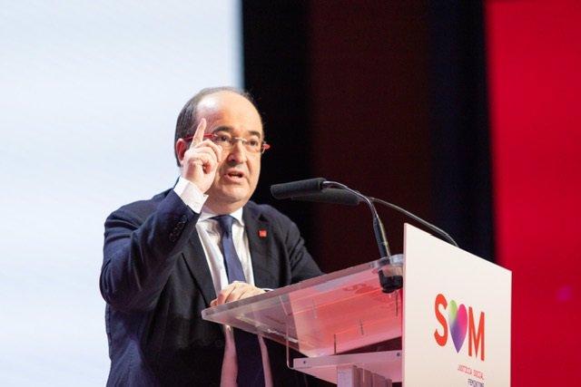 El primer secretari del PSC, Miquel Iceta, aquest diumenge en el 14è Congrés del partit