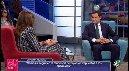 """PSOE-A critica la entrevista """"tendenciosa y parcial"""" a Moreno en el programa '5.C El Debate' de Canal Sur TV"""