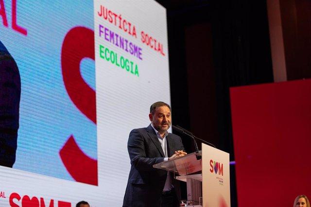 El secretari d'Organització del PSOE i ministre de Foment en funcions, José Luís Ábalos, en el 14è Congrés del PSC