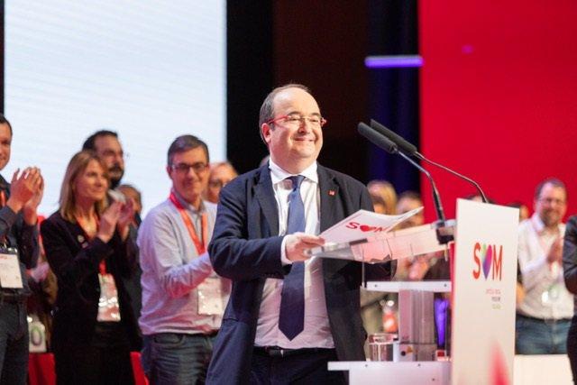 El primer secretari del PSC, Miquel Iceta, en el 14è Congrés del partit aquest diumenge a Barcelona