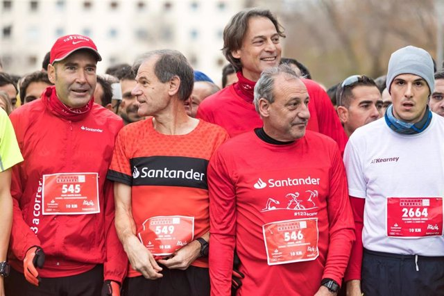 Abel Antón, embajador de 123aCorrer, en la XXI edición de la Carrera de las Empresas de Madrid.