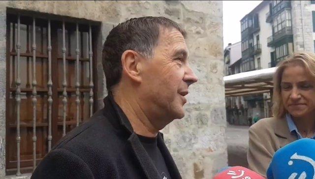 El coordinador general de EH Bildu tras votar en Elgoibar