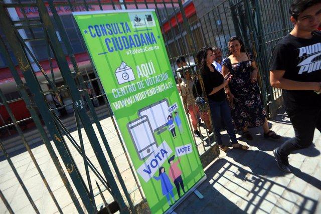 Votacion consulta ciudadana en Independencia, Chile
