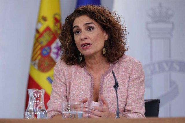 La ministra de Hacienda en funciones, María Jesús Montero