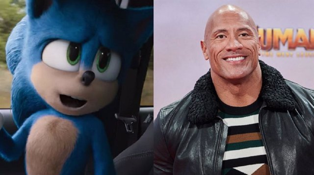 Dwayne 'The Rock' Johnson responde al guiño de Sonic
